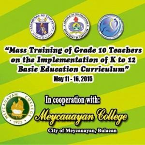 Training of Grade 10 Teachers