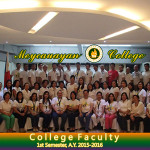 Members of the College Faculty 1st Sem., A.Y. 2015-2016